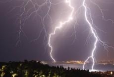 Ngày mưa bão, không lo sửa tivi bị sét đánh