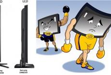 Khác nhau giữa tivi LED và tivi LCD